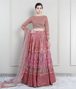 Hues of Red & Pink Lehenga