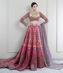Hues of Red Lehenga