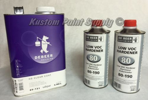 High Solids Clear Coat Kit Valspar De Beer Gallon Kit - Kustom Paint Supply