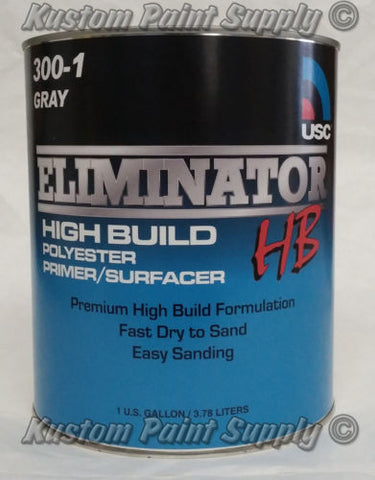 USC High Build Polyester Primer Surfacer Gray GALLON 300-1 - Kustom Paint Supply