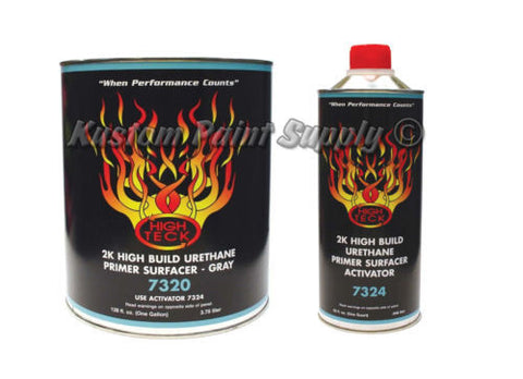 High Teck 7320-1 2k High Build Urethane Primer Surfacer Gray Gallon Kit - Kustom Paint Supply