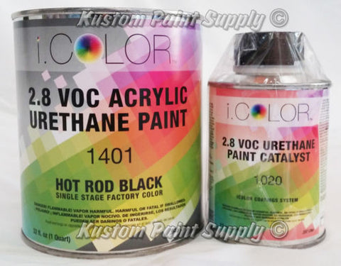 i.Color Factory Pack Hot Rod Black Urethane Single Stage Paint Quart Kit