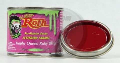 1/4 Pint - Lil' Daddy Roth Pinstriping Enamel - Trophy Queen Ruby Bling - Kustom Paint Supply