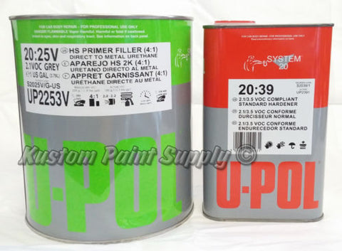 UPOL Primer Filler (4:1) Gray Gallon Kit UP2253V