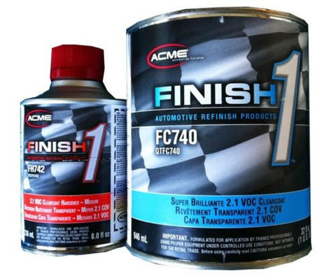 1 Quart KIT Finish 1 Clear Coat  Finish1 FC740 and FH742 - Kustom Paint Supply