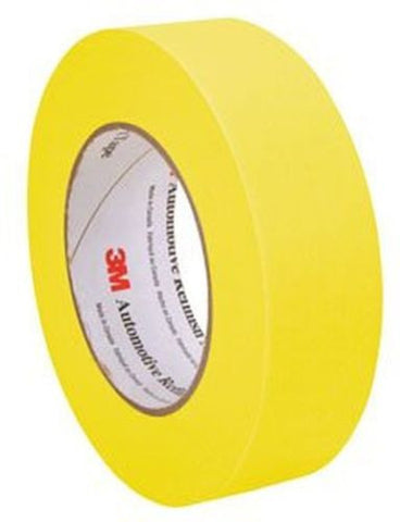 06654 3M Automotive Refinish Masking Tape 1 Case (24 Rolls) Yellow - Kustom Paint Supply