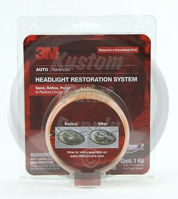 1 Kit - 3M - Headlight Len Restore System 39008 - Kustom Paint Supply
