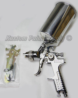 3.0 Tip HVLP Spray Gun for Gel Coat, Primer, Metal Flake - Kustom Paint Supply