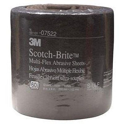 "07522 3M Scotch-Brite Gray Hand Pads 8"" x 20' - Kustom Paint Supply"