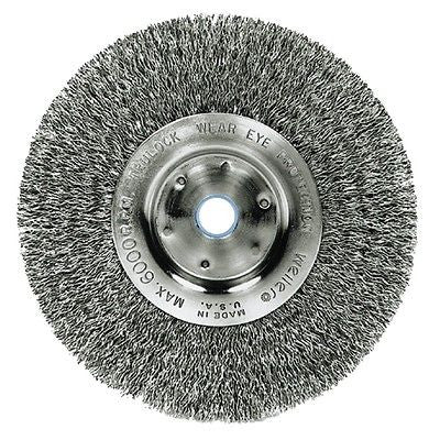 "1ea Weiler - Narrow Face Crimped Wire Wheel, 6"" - 804-01075P - Kustom Paint Supply"