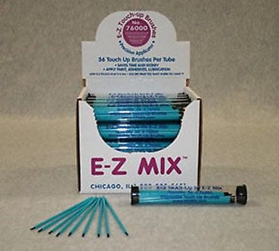 1 Tube (36 Ea) - E-Z Mix - Touch Up Brushes 76000 - Kustom Paint Supply