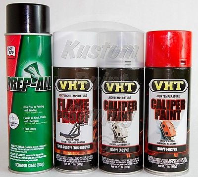 1 Kit - VHT - Real Orange Caliper Drum Paint ESW362, SP118, SP730, SP733 - Kustom Paint Supply