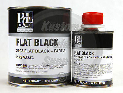PCL 2703, 2798 Single Stage Flat Black Quart Kit