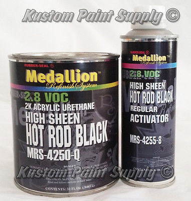 High Sheen Hot Rod Black MRS-4250 Medallion Quart Kit - Kustom Paint Supply