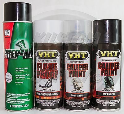 1 Kit - VHT - Gloss Black Caliper Drum Paint ESW362, SP118, SP730, SP734 - Kustom Paint Supply