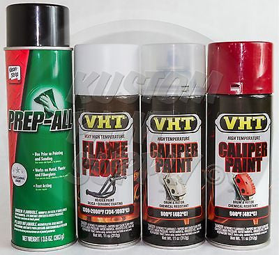1 Kit - VHT - Real Red Caliper Drum Paint ESW362, SP118, SP730, SP731 - Kustom Paint Supply