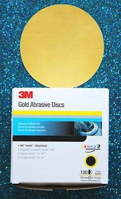 "3M 00972 P500 Hookit 6"" Gold Film 216U - 1 Box (100 sheets) - Kustom Paint Supply"