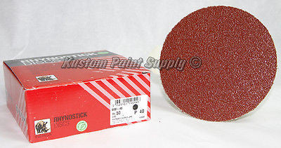 INDASA 40 Grit 6'' Sticky Back DA Sandpaper Rhynostick 600-40 (50 Sheets/Box)