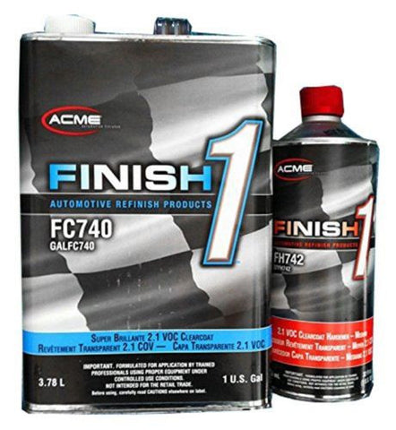 Finish 1 Clear Coat FC740 with Activator 1 Gallon Kit - Kustom Paint Supply