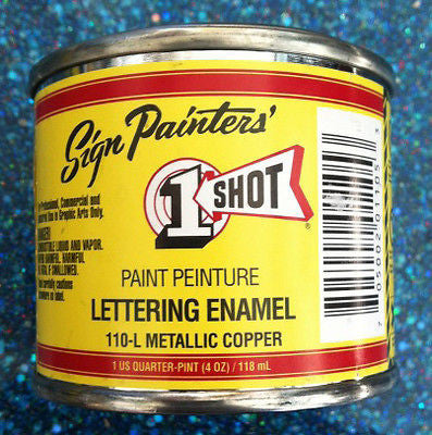 1 Shot Metallic Brass Quarter Pint - 111L-QP - Kustom Paint Supply
