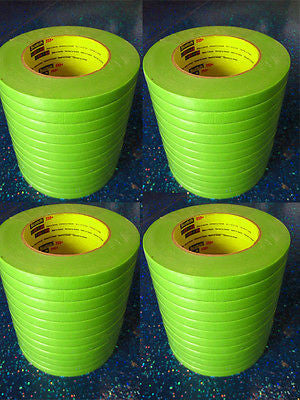 3M 26332 1/2'' Scotch  Performance Masking Tape 233+ - Green  1 Case/48 Rolls - Kustom Paint Supply