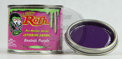1/4 Pint - Lil' Daddy Roth Pinstriping Enamel - Beatnik Purple - Kustom Paint Supply