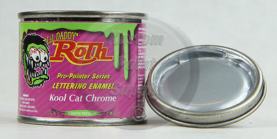 1/4 Pint - Lil' Daddy Roth Pinstriping Enamel - Kool Cat Chrome - Kustom Paint Supply