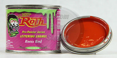 1/4 Pint - Lil' Daddy Roth Pinstriping Enamel - Reno Red - Kustom Paint Supply