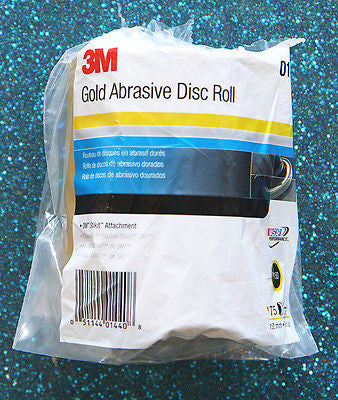 """3M Stikit Gold Abrasive Disc Roll 6"""" Dia P400A Grit 1 Roll of 175 Discs  01434"""