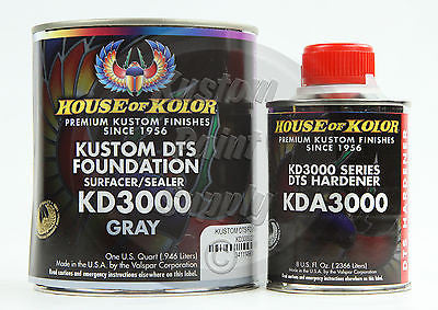 House Kolor KD3000 Gray DTS Epoxy Surfacer Sealer  1Qt Kit