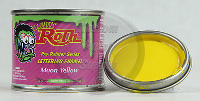 1/4 Pint - Lil Daddy Roth Pinstriping Enamel - Moon Yellow - Kustom Paint Supply
