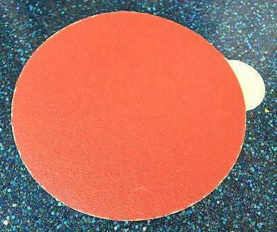 "INDASA 600-600 6"" Red Sticky Back DA 600 Grit Sandpaper  1 Sheet"