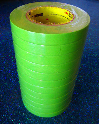 3M 26334 3/4'' Scotch  Performance Masking Tape  Green  1 Sleeve/12 Rolls - Kustom Paint Supply