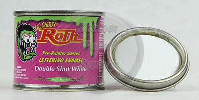 1/4 Pint - Lil' Daddy Roth Pinstriping Enamel - Double Shot White - Kustom Paint Supply