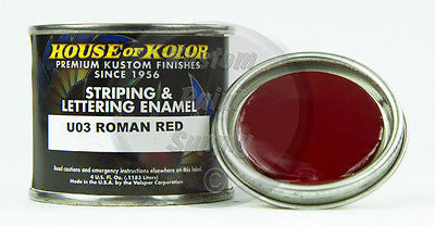 House of Kolor U03 Roman Red Striping & Lettering Enamel 4oz - Kustom Paint Supply