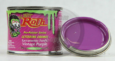 1/4 Pint - Lil' Daddy Roth Pinstriping Enamel - Sac Ford's Vintage Purple - Kustom Paint Supply