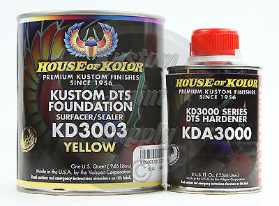 House Kolor KD3003 Yellow DTS Epoxy Surfacer Sealer  1Qt Kit