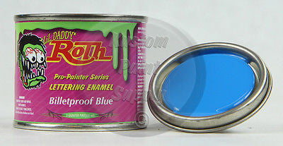 1/4 pint - Lil' Daddy Roth Pinstriping Enamel - Billetproof Blue - Kustom Paint Supply