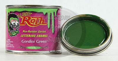 1/4 Pint - Lil' Daddy Roth Pinstriping Enamel - Gordini Green - Kustom Paint Supply