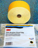 3M 02599 Stikit 80 Grit Continuous Abrasive Gold Sheet Roll - Kustom Paint Supply