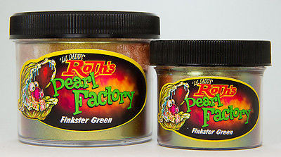 1oz - Lil' Daddy Roth Pearl Factory Skitzo Pearl - Finkster Green - Kustom Paint Supply