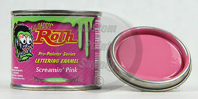1/4 Pint - Lil' Daddy Roth Pinstriping Enamel - Screamin' Pink - Kustom Paint Supply