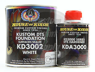 House Kolor KD3002 White DTS Epoxy Surfacer Sealer  1Qt Kit