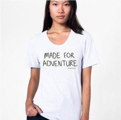 Unisex Made For Adventure Wide Neck Crew Tee