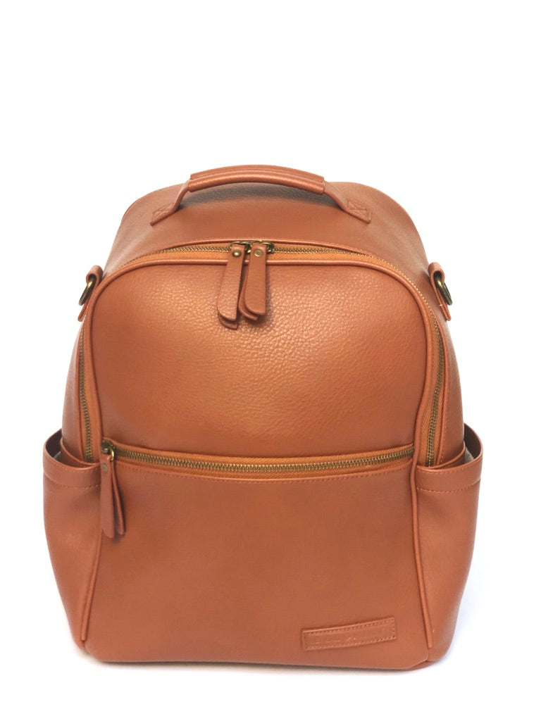 Sample #5: Brown Vegan Leather Backpack