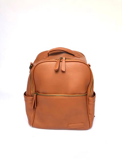 Sample #6: Brown Vegan Leather Backpack
