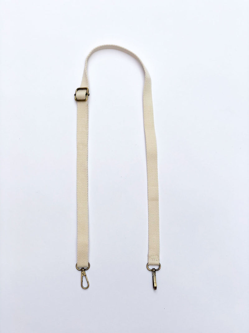Solid Skinny Strap in Cream