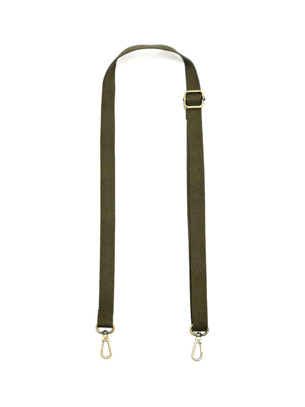 Solid Skinny Strap in Military Green