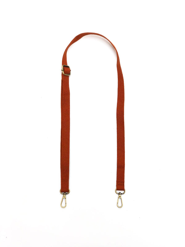 Solid Skinny Strap in Rust
