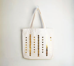 Tribal Gold Triangle Tote